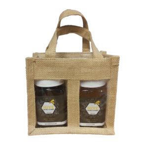Jute Presentation Bag - 2 x 500g jars