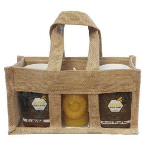 Jute presentation bag for 500g jars